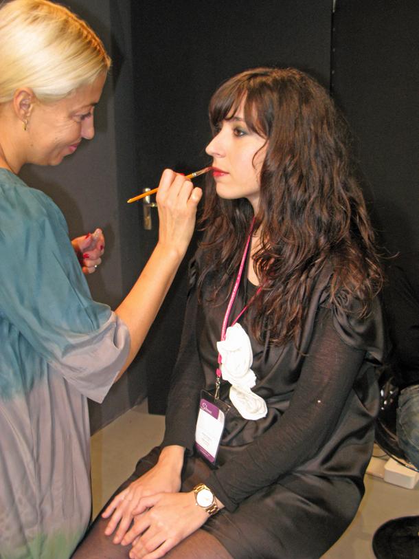 Sandrine au Maquillage