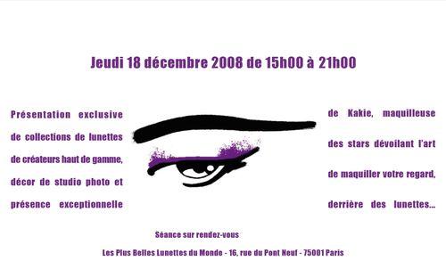 Invitation Kakie Chez Les plus Belles Lunettes du Monde 2
