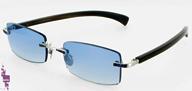 Gold & wood lunettes precieuse or blanc massif saphirs bleus Branche en corne noire
