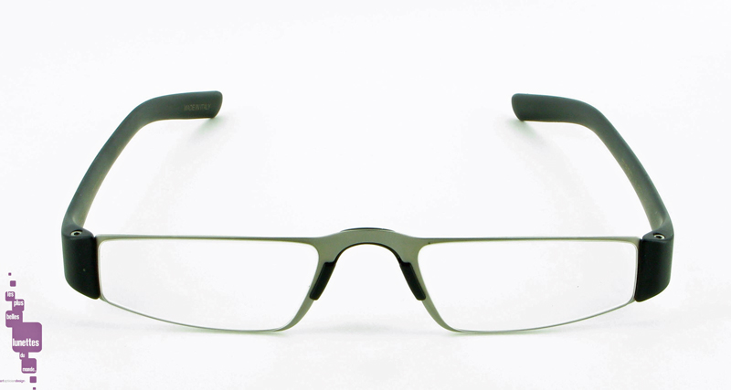 Porsche Design Reading Tools_ready-made reading glasses_noire_metal_verres anti-glare_P8800