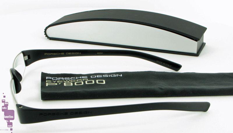 Porsche Design Reading Tools_lunette de lecture_noire_metal_verres anti-reflets_P8800