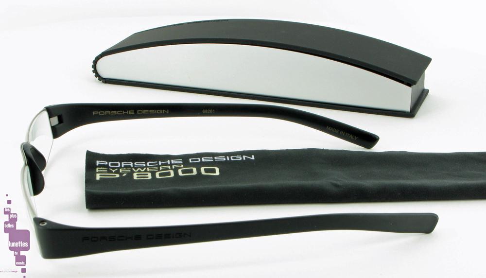 Porsche Design Reading Tools lunette de lecture noire metal verres  anti-reflets P8800 634c12092953