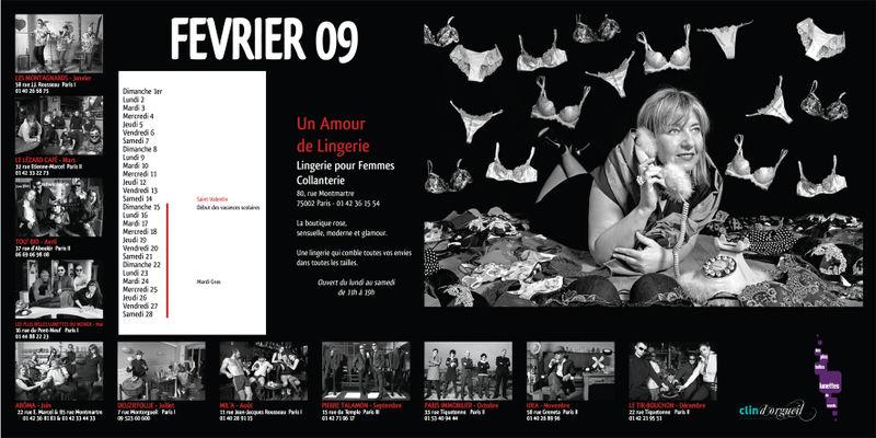 Page de Fevrier du Calendrier Clin d orgeuil et Les Plus Belles Lunettes du Monde