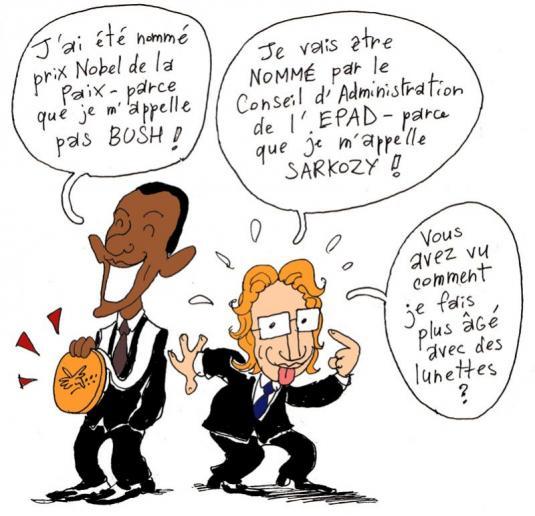 Dessin les lunettes de Jean Sarkozy