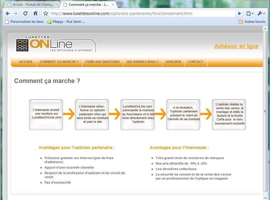 2e94005494 Lunette on line www.lunettesonline.com comment ca ne marche pas