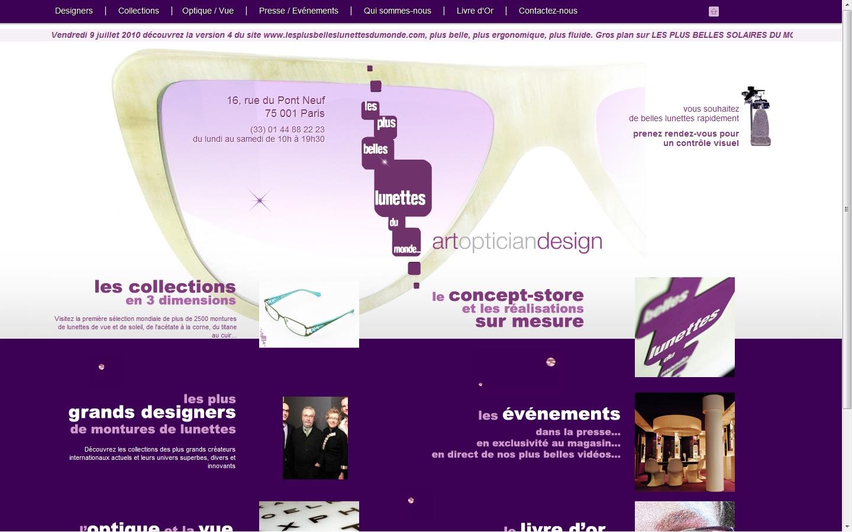 f4d2d323cafdb6 Page d acceuil du site de l opticien à Paris Les Plus Belles Lunettes du