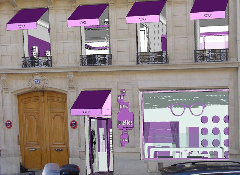 Facade LPBLDM Francois 1er Blog Opticien Eye Wide Shot